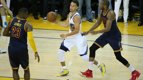 LeBron e Irving no bastaron a los Cavs para vencer a los Warriors de Curry