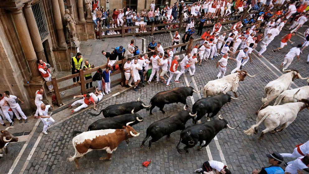 Cuarto encierro de San Fermín: los temidos Jandilla, rápidos y sin peligro