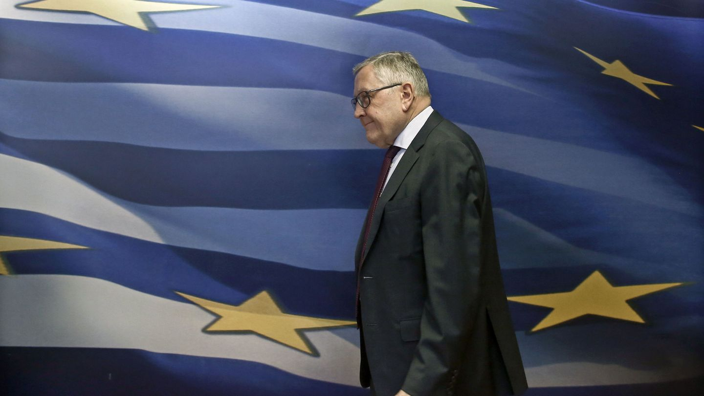 Klaus Regling, director ejecutivo del MEDE, durante su última visita a Atenas. (EFE)