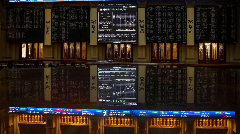 El Ibex 35 rompe la racha alcista con Santander y Bankia en polos opuestos