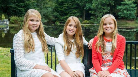 Los reyes de Holanda 'regalan' nuevas imágenes de Amalia, Alexia y Ariane