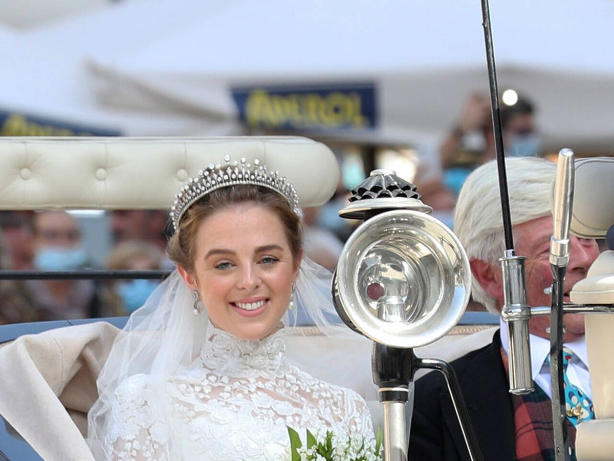 Foto: Charlotte Lindesay-Bethune vestida de novia. (Gtres)