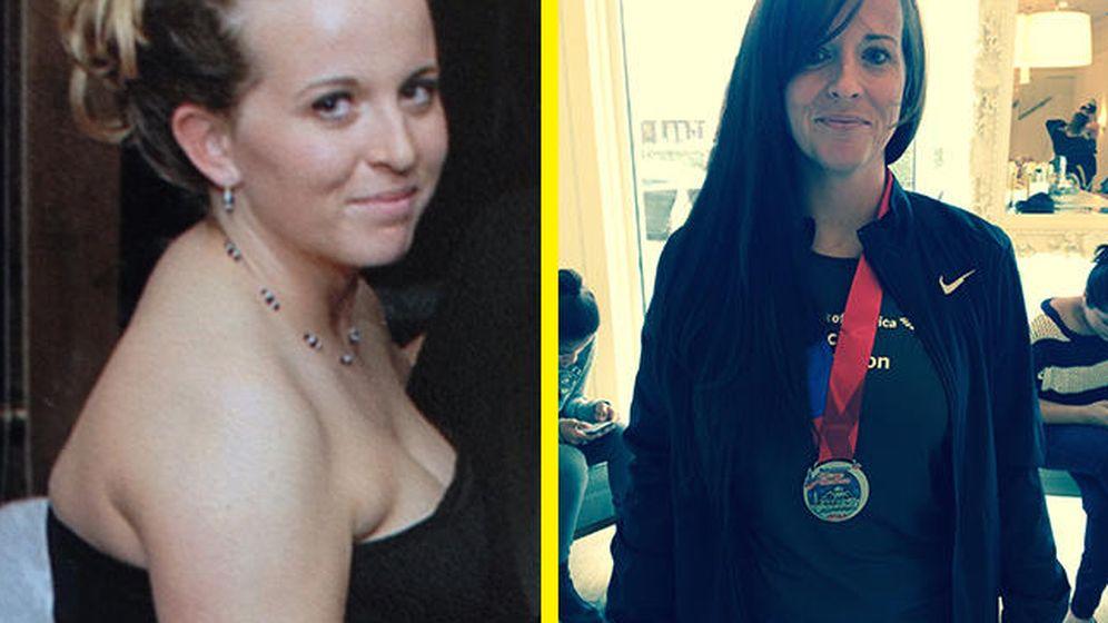 Foto: Este es el antes y el después de su cambio de vida. (Natalie White)