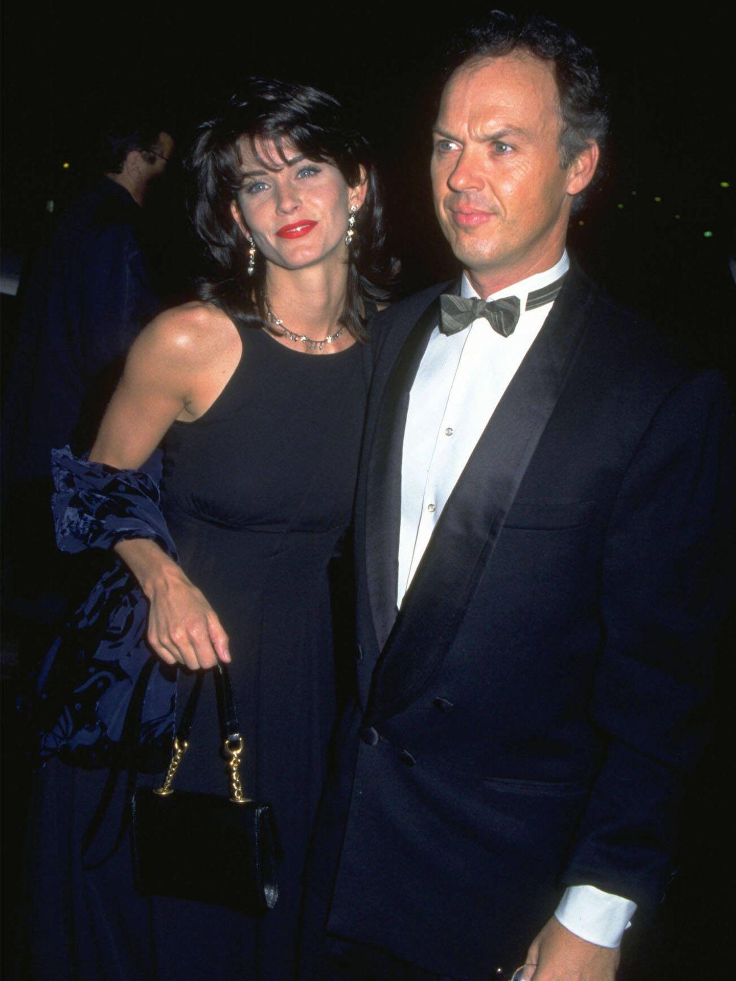 Michael Keaton y Courteney Cox salieron juntos seis años. (Getty)
