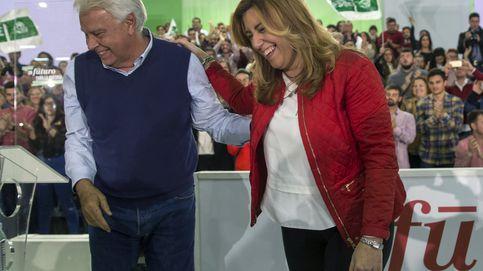 González y Guerra vuelven juntos para arropar a Susana Díaz en su estreno
