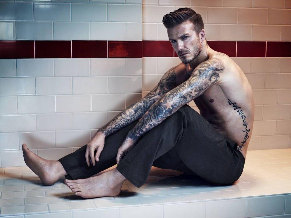 Foto: David Beckham en un anuncio para Bodywear de HM.