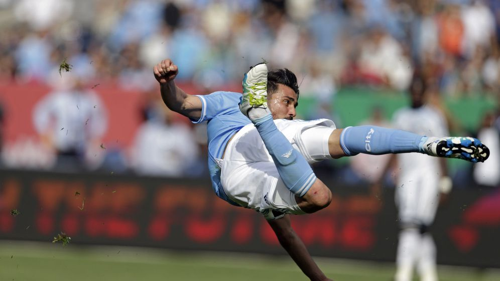 Foto: Villa, en un partido con su actual equipo, el New York City. (REUTERS)
