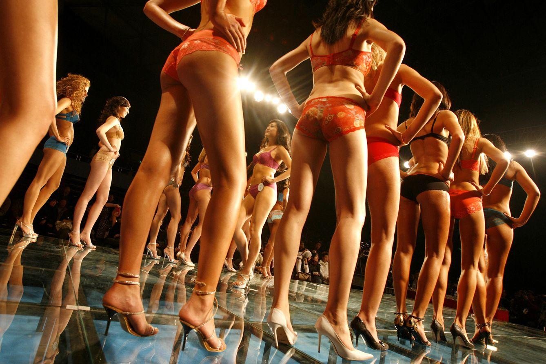 Foto: Participantes en el concurso Miss Bikini International durante la final celebrada en Shanghái (Reuters).