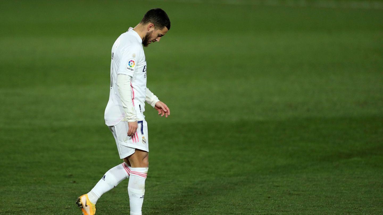 Hazard, abatido tras una nueva lesión. (Efe)
