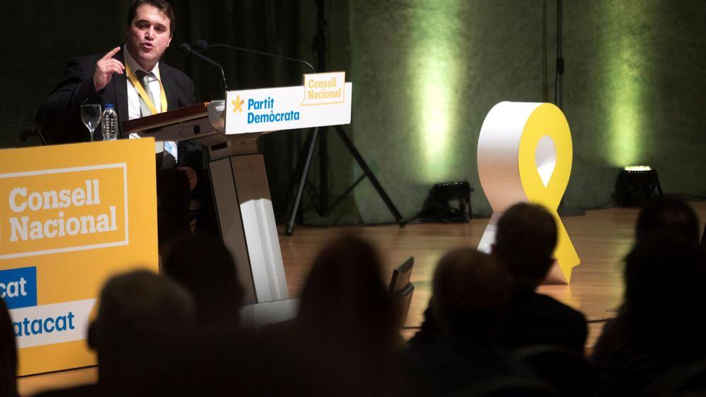 Foto: David Bonvehí en el consejo nacional del PDeCAT. (EFE)