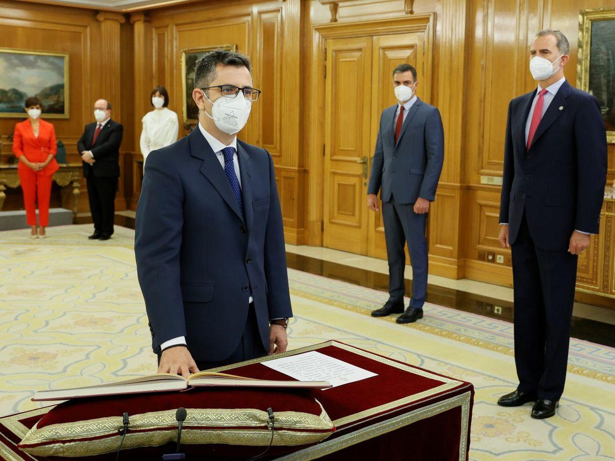 Foto: El nuevo ministro de la Presidencia, Relaciones con las Cortes y Memoria Democrática, Félix Bolaños. (EFE)