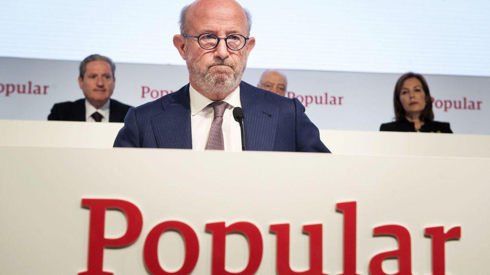 Foto: Emilio Saracho, presidente del Popular, el lunes en la junta de accionistas. (EFE)