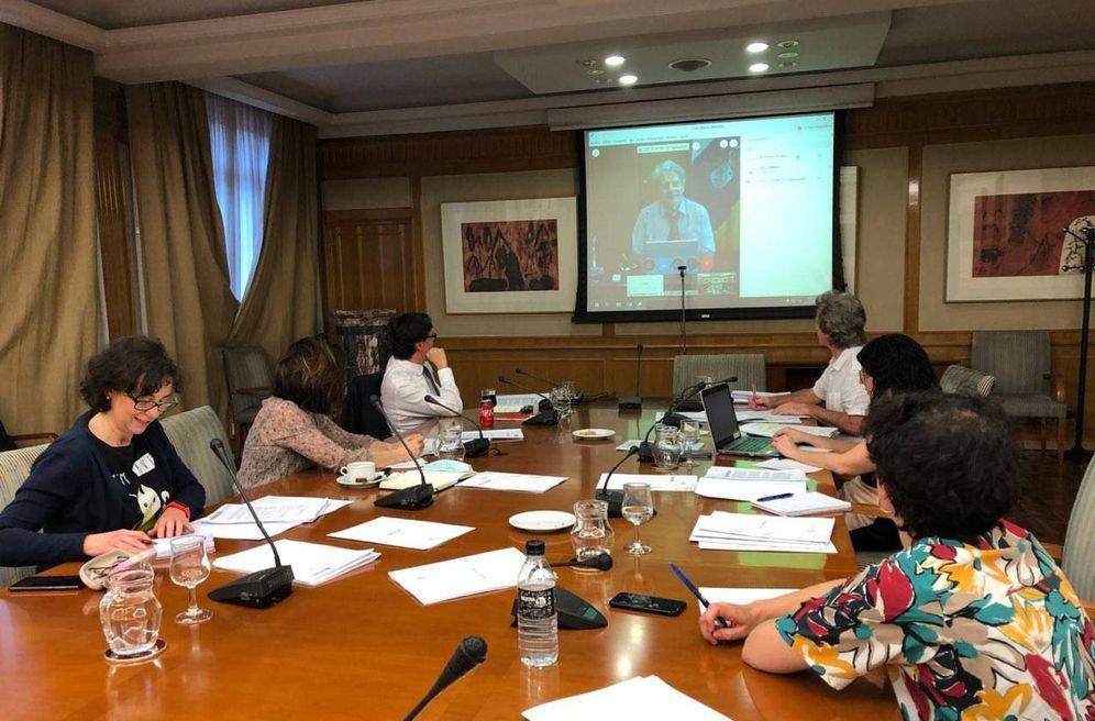 Foto: El ministro de Sanidad, Salvador Illa, encabeza la reunión bilateral de desescalada con el Gobierno de Canarias, este 6 de mayo. (Sanidad)
