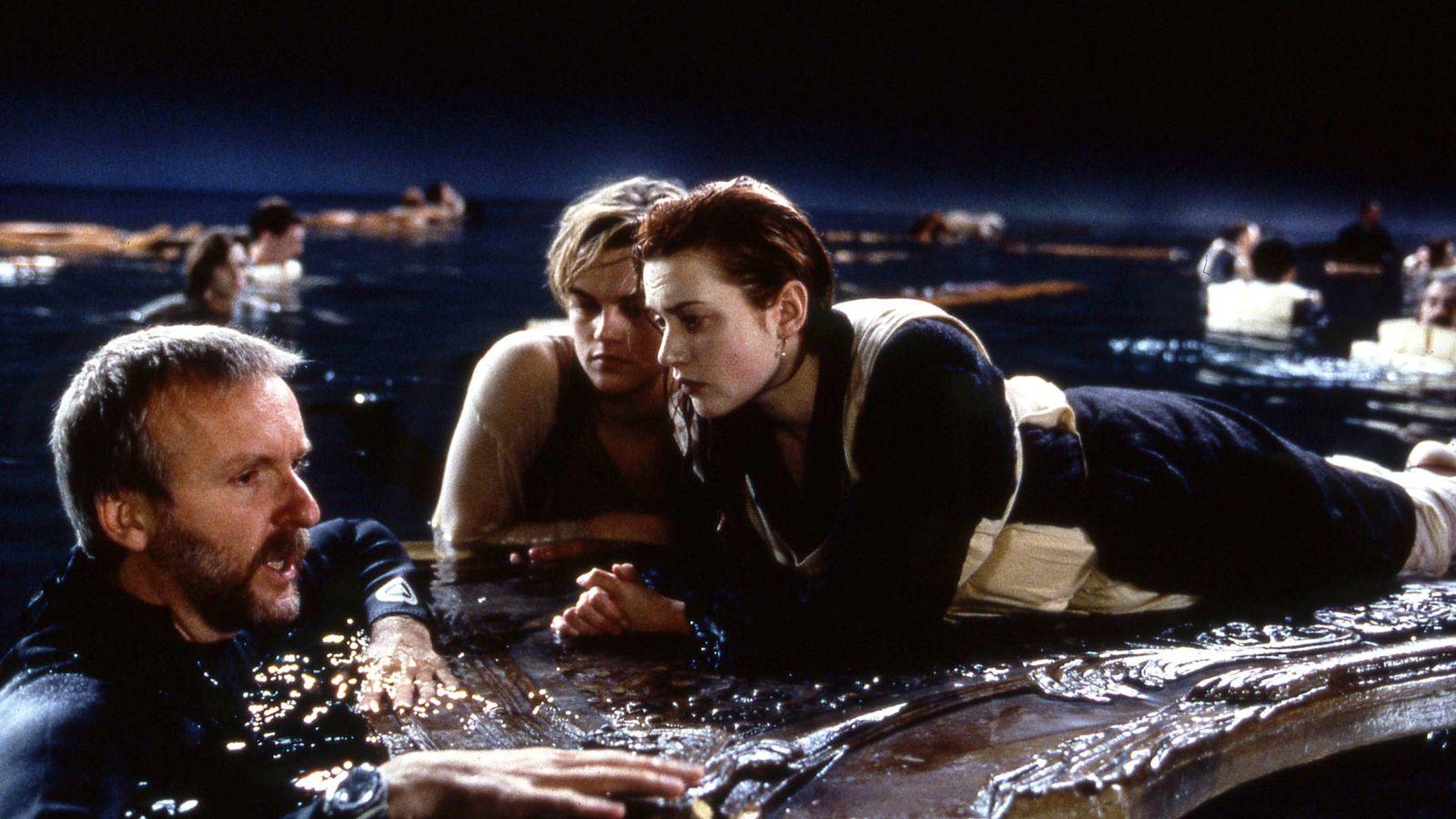 Foto: James Cameron, Leonardo DiCaprio y Kate Winslet en un momento del rodaje. (Merie W. Wallace/Paramount)