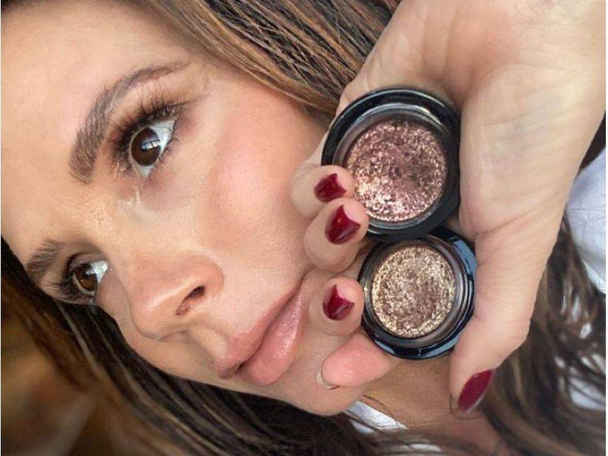 Foto: El maquillaje de Victoria Beckham hecho por su hija Harper. (Instagram @victoriabeckhambeauty)