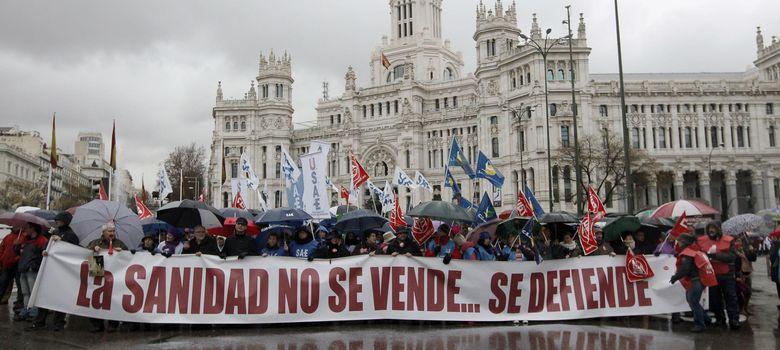 Foto: Un día de protesta de la 'marea blanca'