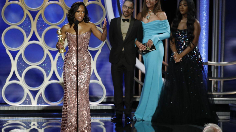Regina King agradeciendo su premio. (Reuters)