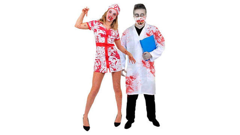 Disfraces para parejas de enfermera y medico asesinos