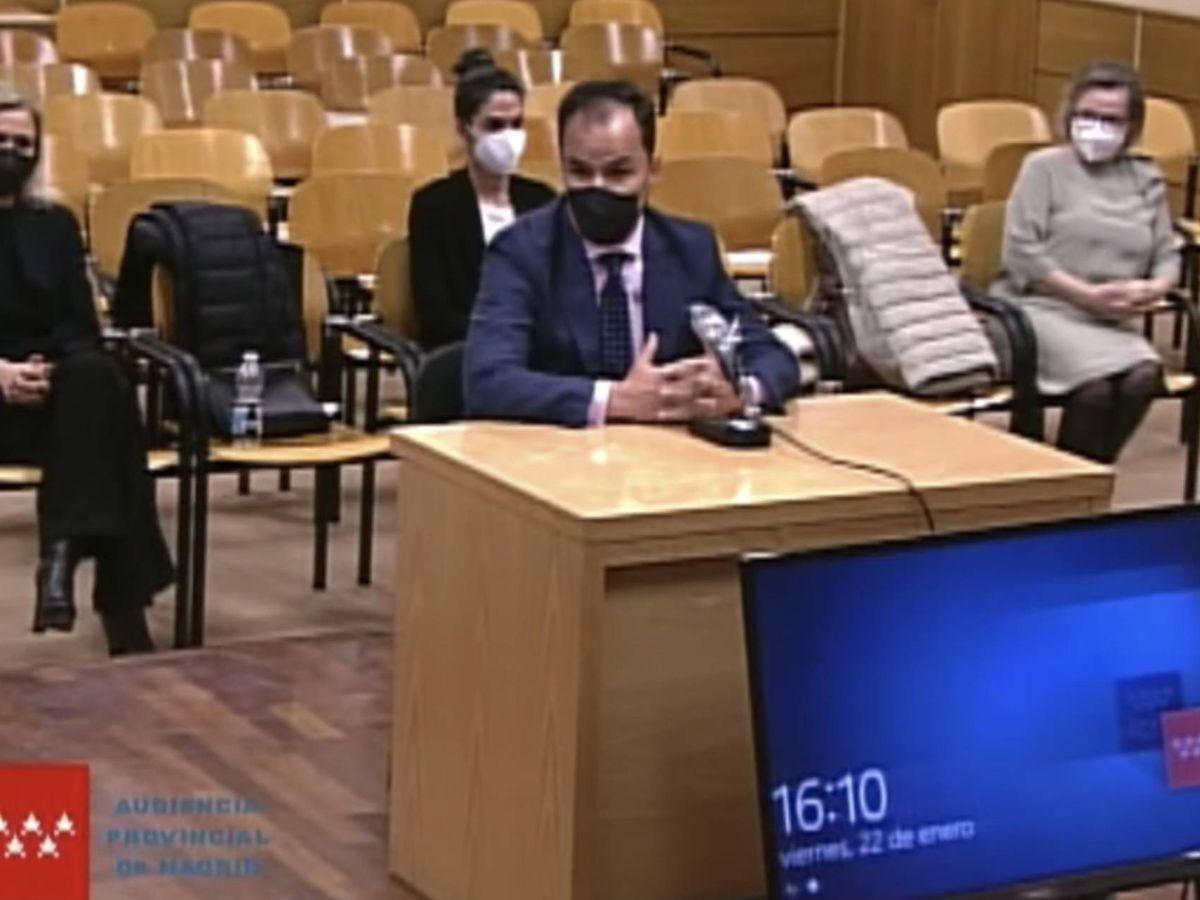 Foto: El rector de la Universidad Rey Juan Carlos, Javier Ramos López, durante su declaración