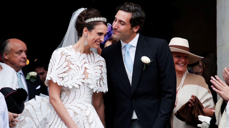 Jean-Christophe Napoleon Bonaparte y Olympia von Arco-Zinneberg recién casados (REUTERS)