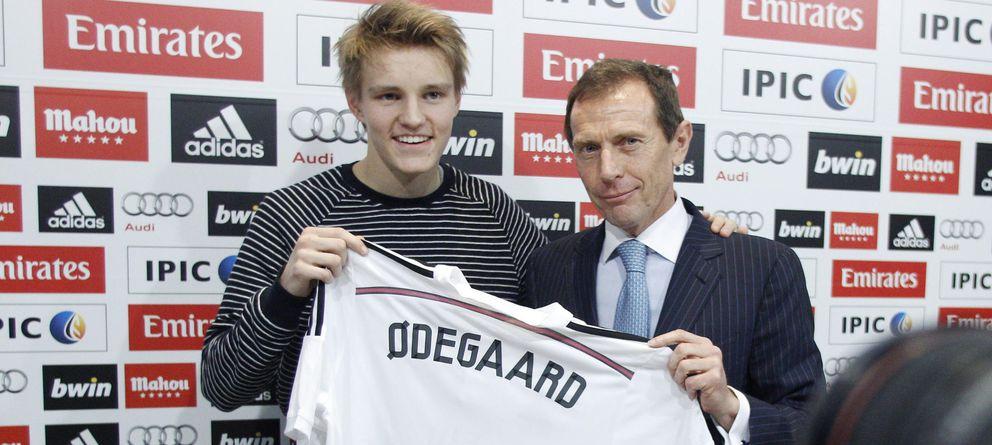Foto: Martin Odegaard, en su presentación como nuevo jugador del Real Madrid.