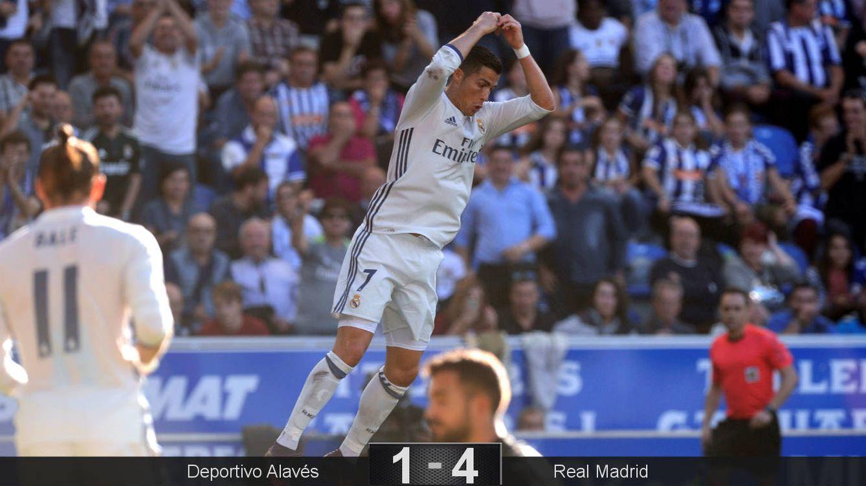 Foto: Cristiano celebró tres goles en Mendizorroza (Vincent West/Reuters).