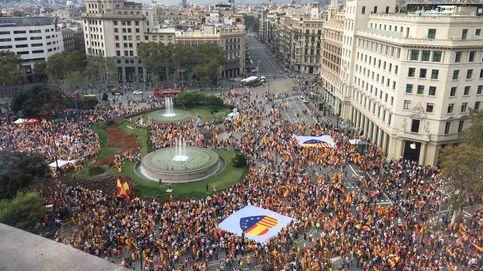 Las fotos de las tres manifestaciones, a favor y en contra del 12-O, en Barcelona