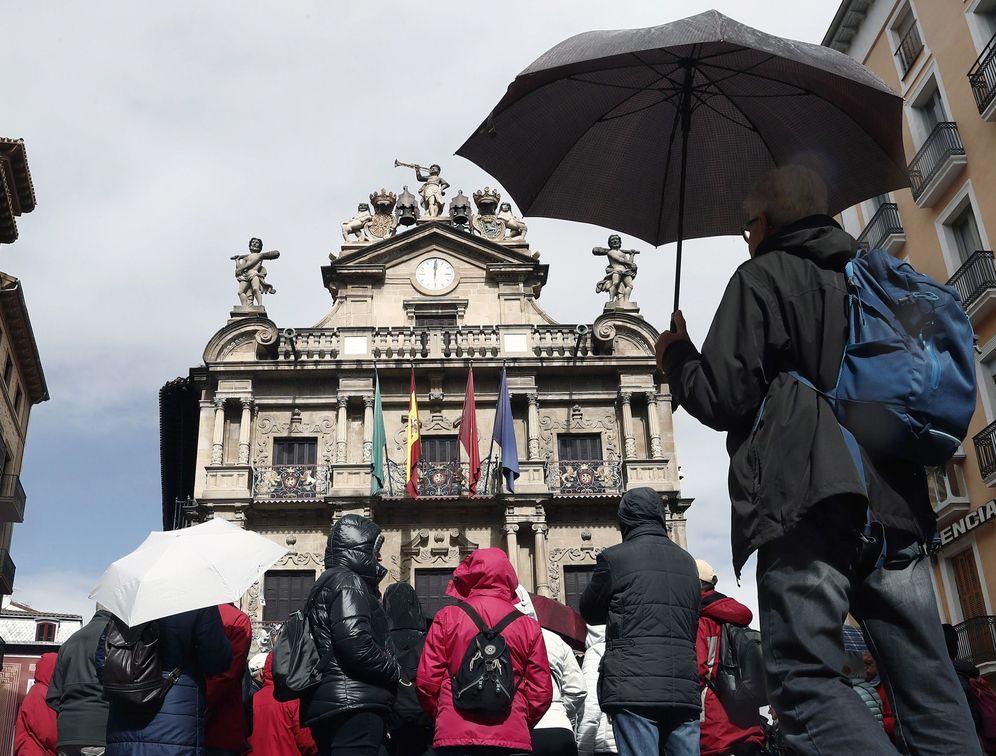 Foto: Fachada del Ayuntamiento de Pamplona. (EFE)