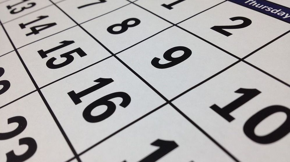 Foto: Imagen de un calendario (CC/Pixabay)