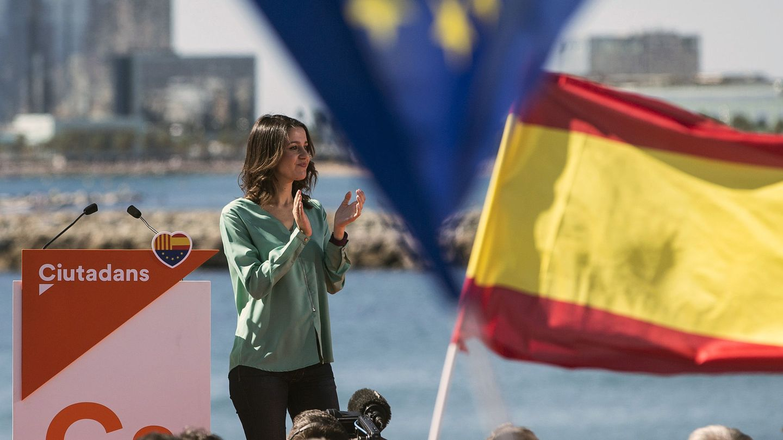 La portavoz nacional y líder de la oposición en Cataluña, Inés Arrimadas. (EFE)