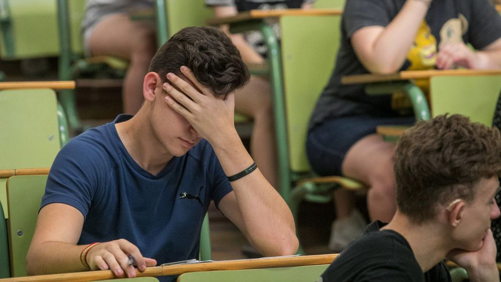 Foto: Examen de selectividad en Zaragoza. (Efe)