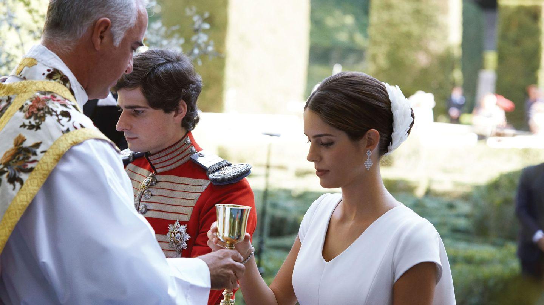 Fernando Fitz-James Stuart y Sofía Palazuelo, durante su boda. (EFE)