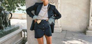 Post de Mitad blazer, mitad short, la falda que arrasa entre las prescriptoras