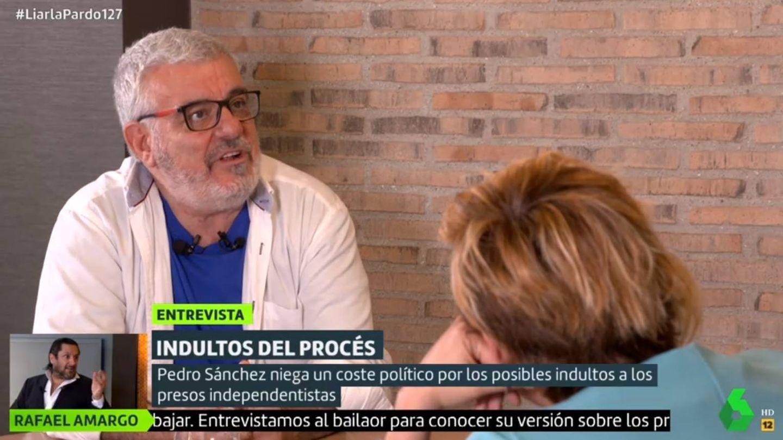 Millán hablando con Cristina Pardo. (La Sexta).