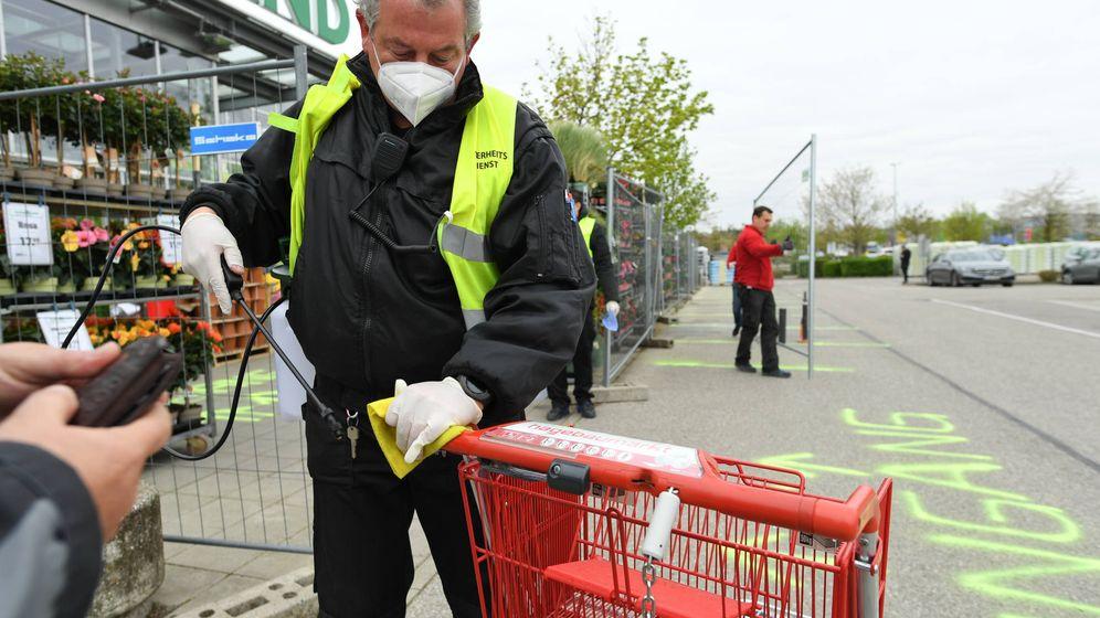 Foto: Reapertura de un supermercado en Alemania. (Reuters)