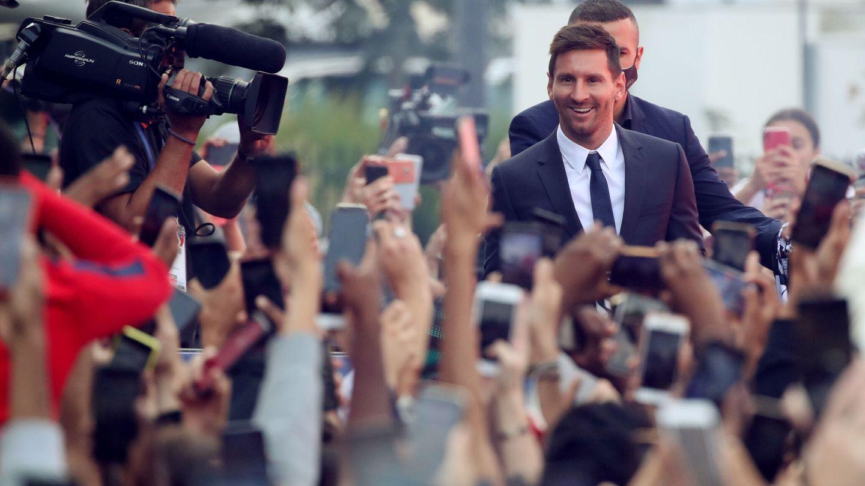 Messi, aclamado por su nueva afición. (Reuters)