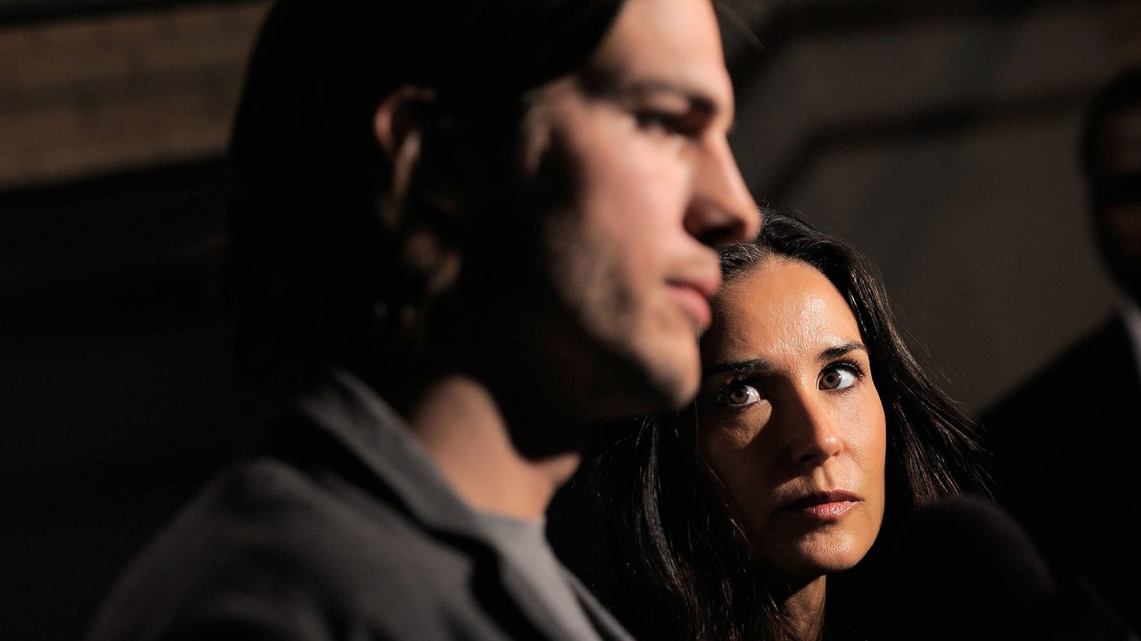 Foto: Demi Moore y Asthon Kutcher. (Getty)