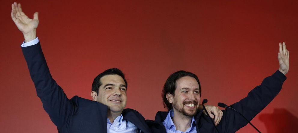 Foto: El líder de Syriza, Alexis Tsipras, junto con el de Podemos, Pablo Iglesias, durante un mitin en la campaña electoral griega de enero