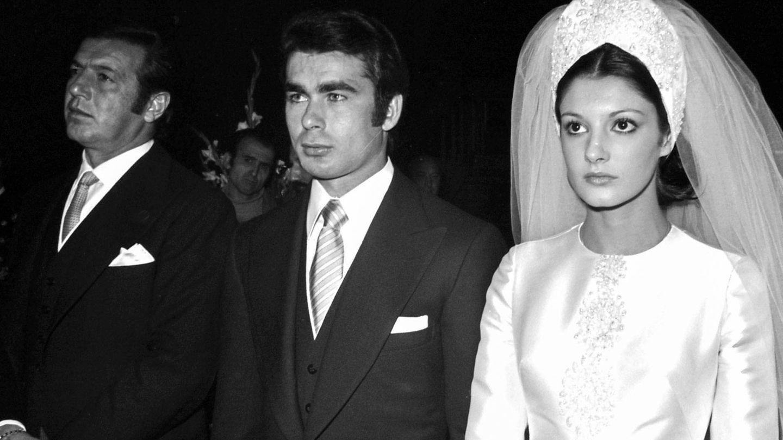 Isabel Pantoja y Paquirri, en su boda. (Getty)