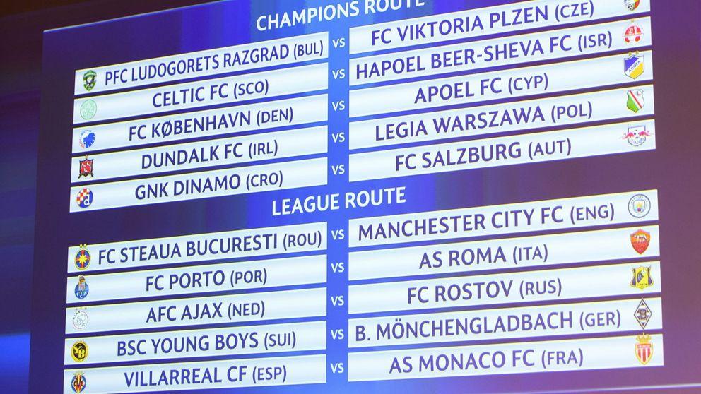 El Villarreal se enfrentará al Mónaco en la fase previa de la Champions League