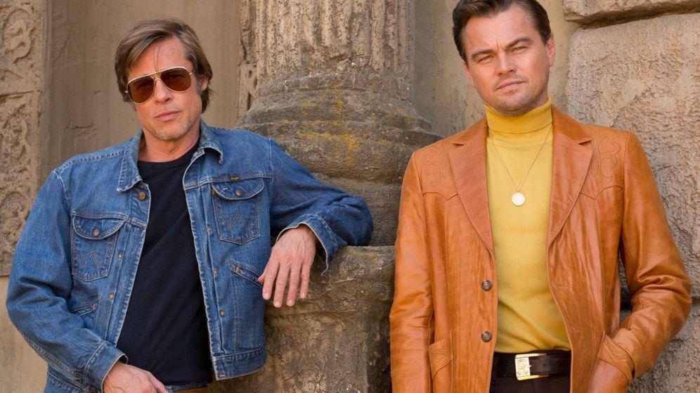 Foto: Brad Pitt y Leonardo DiCaprio en una imagen promocional. (Sony)