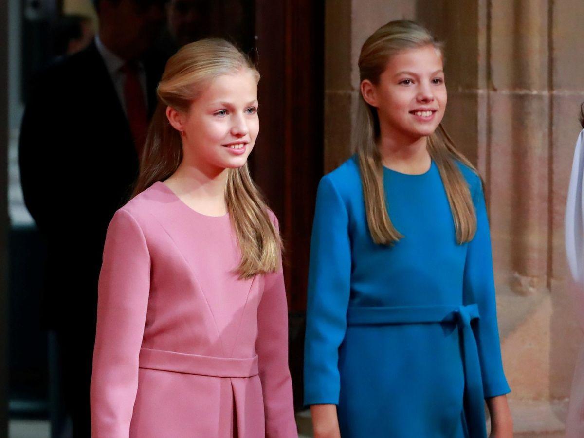 Foto: La princesa Leonor y la infanta Sofía en una imagen de archivo. (EFE)