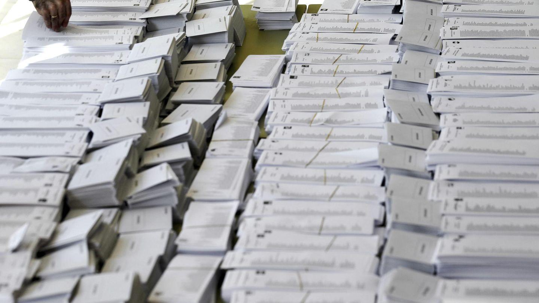 Papeletas electorales de las elecciones europeas de 2014 (EFE)