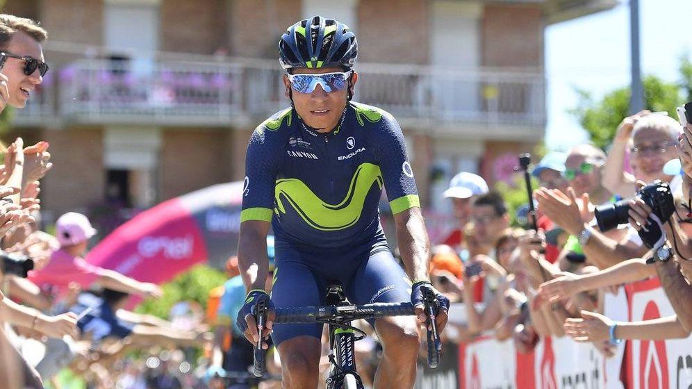 Foto: Quintana debe recuperar 2:41 y ganar tiempo para la contrarreloj del domingo. (Giroditalia)
