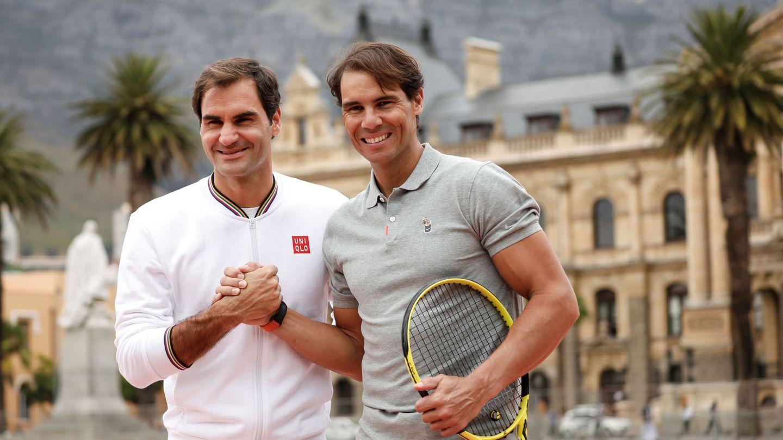 Federer y Nadal, este domingo en Sudáfrica (Reuters)