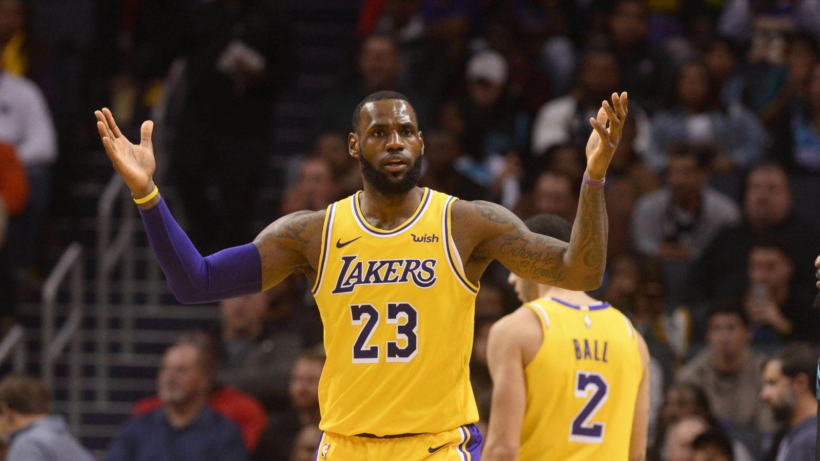 Foto: LeBron James fichó el verano pasado por los Lakers. (USA TODAY Sports)