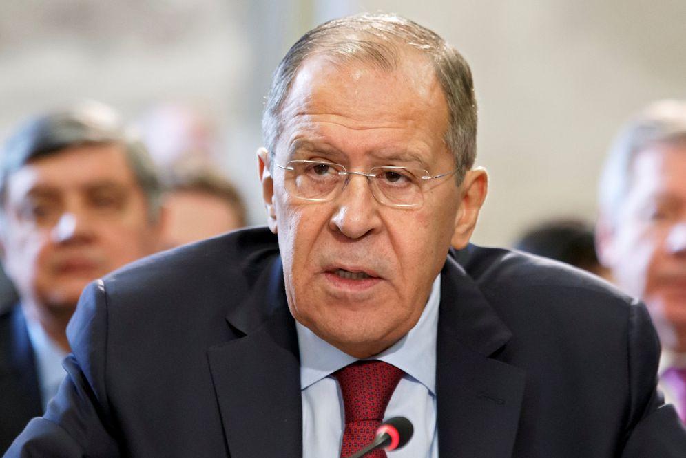 Foto: Sergei Lavrov, en una comparecencia pública. (Reuters)