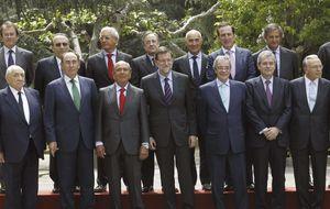Rajoy almuerza con los grandes empresarios para hablar de la recuperación