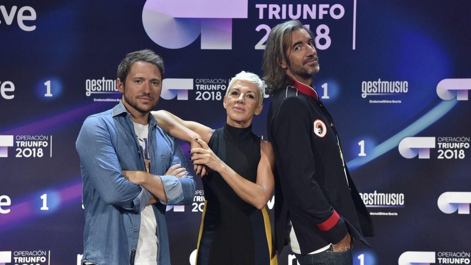 Foto: El jurado de 'OT 2018' (RTVE)