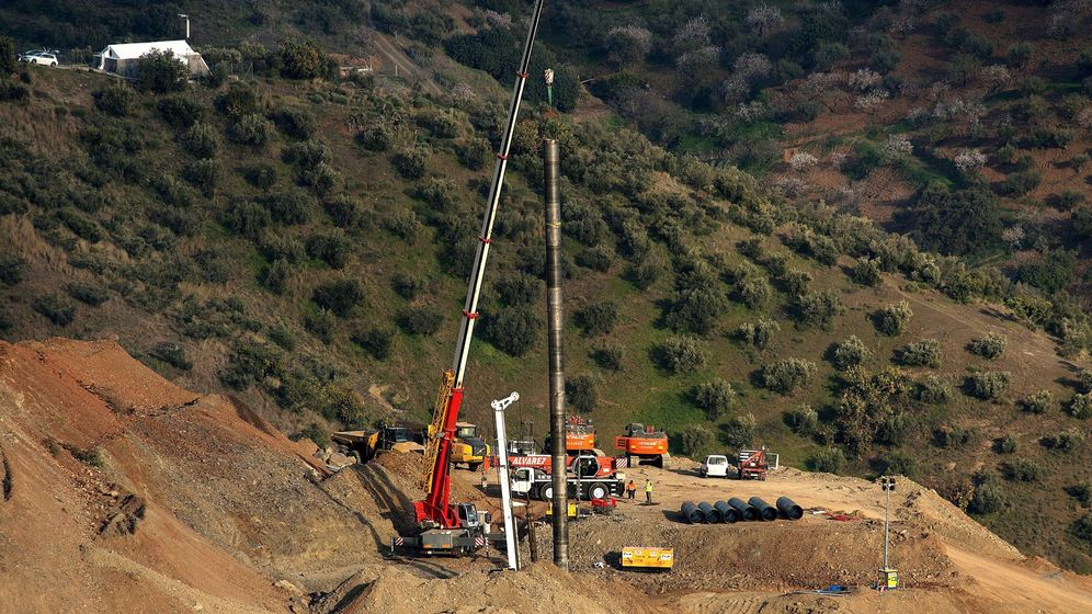 Foto: Imagen de archivo de los trabajos de rescate de Julen el pasado enero. (EFE)